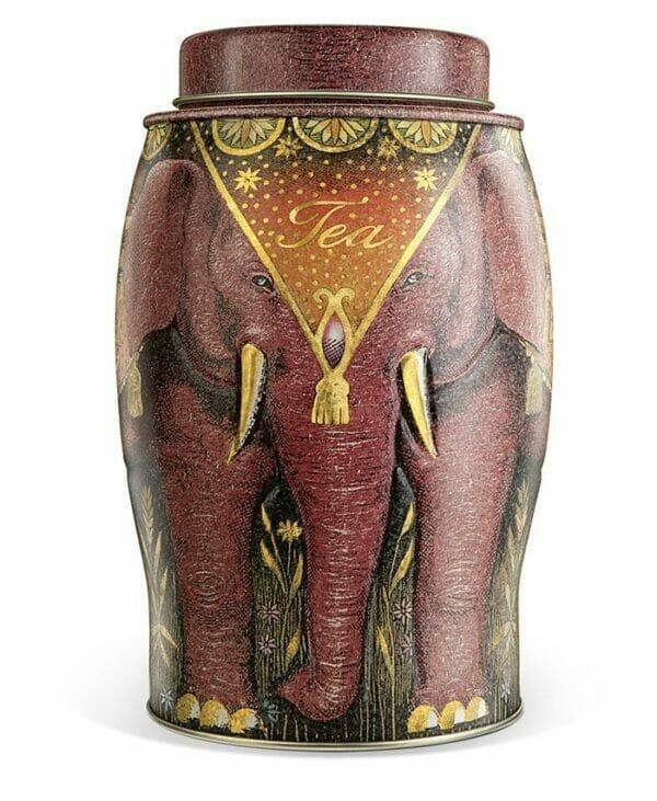 'Kenyan Earth' Large Elephant Caddy - 40 English Breakfast Teabags