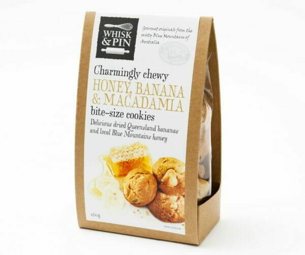 Honey, Banana & Macadamia Cookies 260g Box
