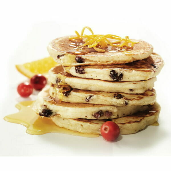 Cranberry & Orange Pancake Stack