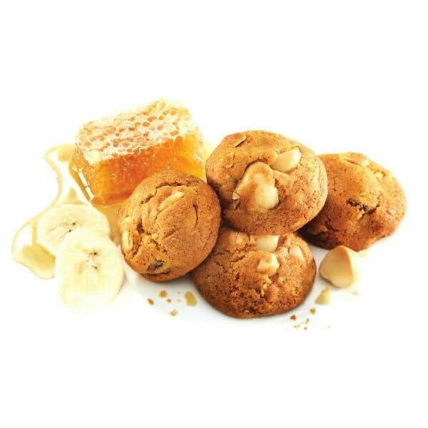 Honey, Banana & Macadamia Bite-Size Cookies