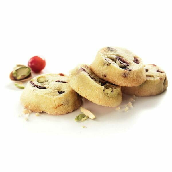 Pistachio & Cranberry Shortbread Bite-Size Cookies