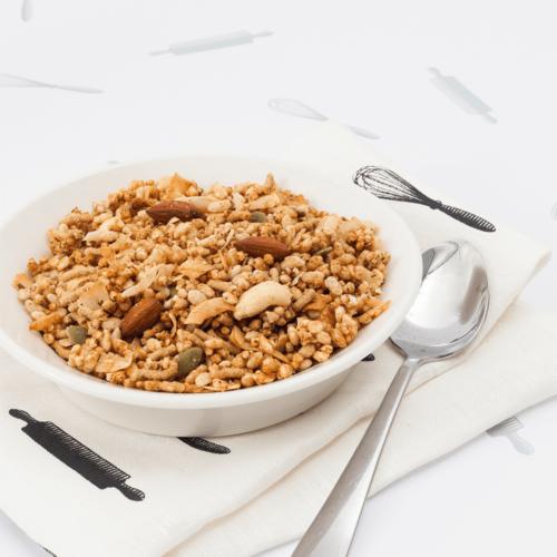 Almond & Quinoa GF Roasted Muesli Fruit-Free-476