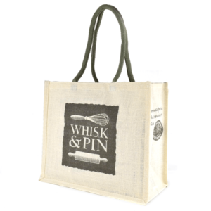 Whisk & Pin Jute Carry Bag