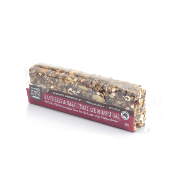 Raspberry & Dark Chocolate GF Muesli Bar 55g-899