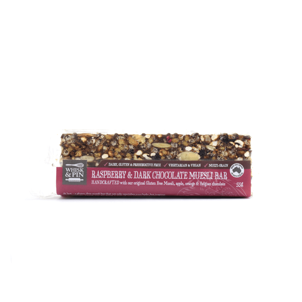 Raspberry & Dark Chocolate GF Muesli Bar 55g